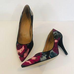 Women's Talbots Floral Print Heels-Sz 7B